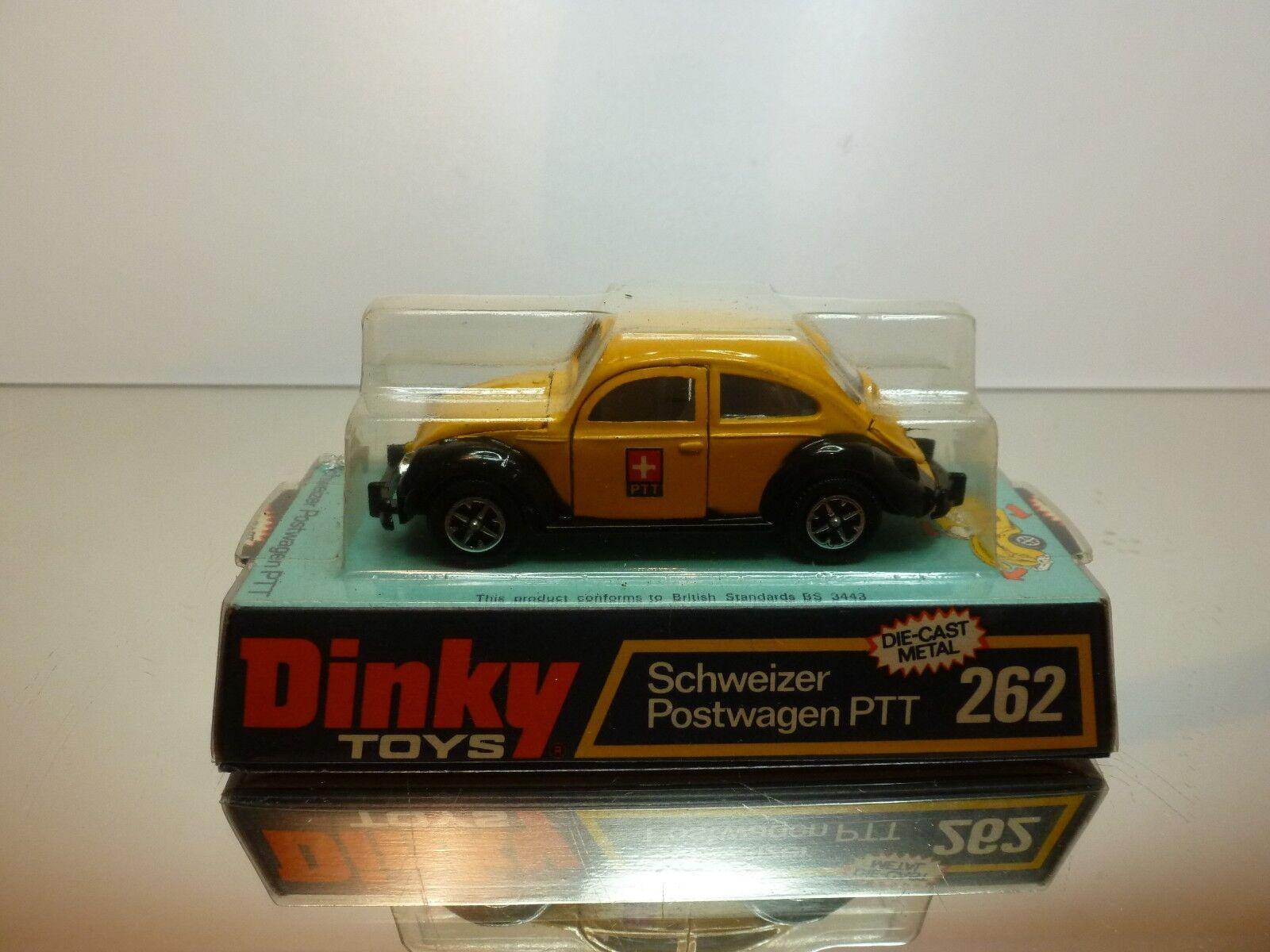DINKY TOYS 262 VW VOLKSWAGEN BEETLE PTT SCHWEIZER POSTWAGEN - 1 43 - VERY GOOD