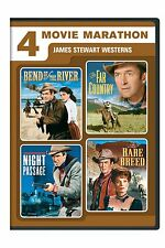 4 James Stewart Westerns Bend of the River,Far Country, Night Passage,Rare Breed