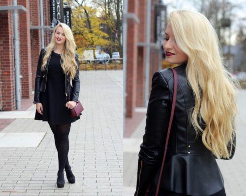 Jacket Aw 002 Small S Peplum Leather Biker Ref Faux Sizes Zara 2015 5070 T7qxdYY
