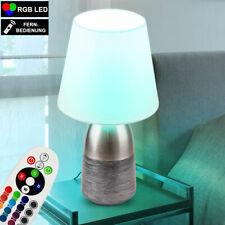 RGB LED Flexo Lese Leuchte Farbwechsel Textil Nacht Schreib Tisch Lampe dimmbar