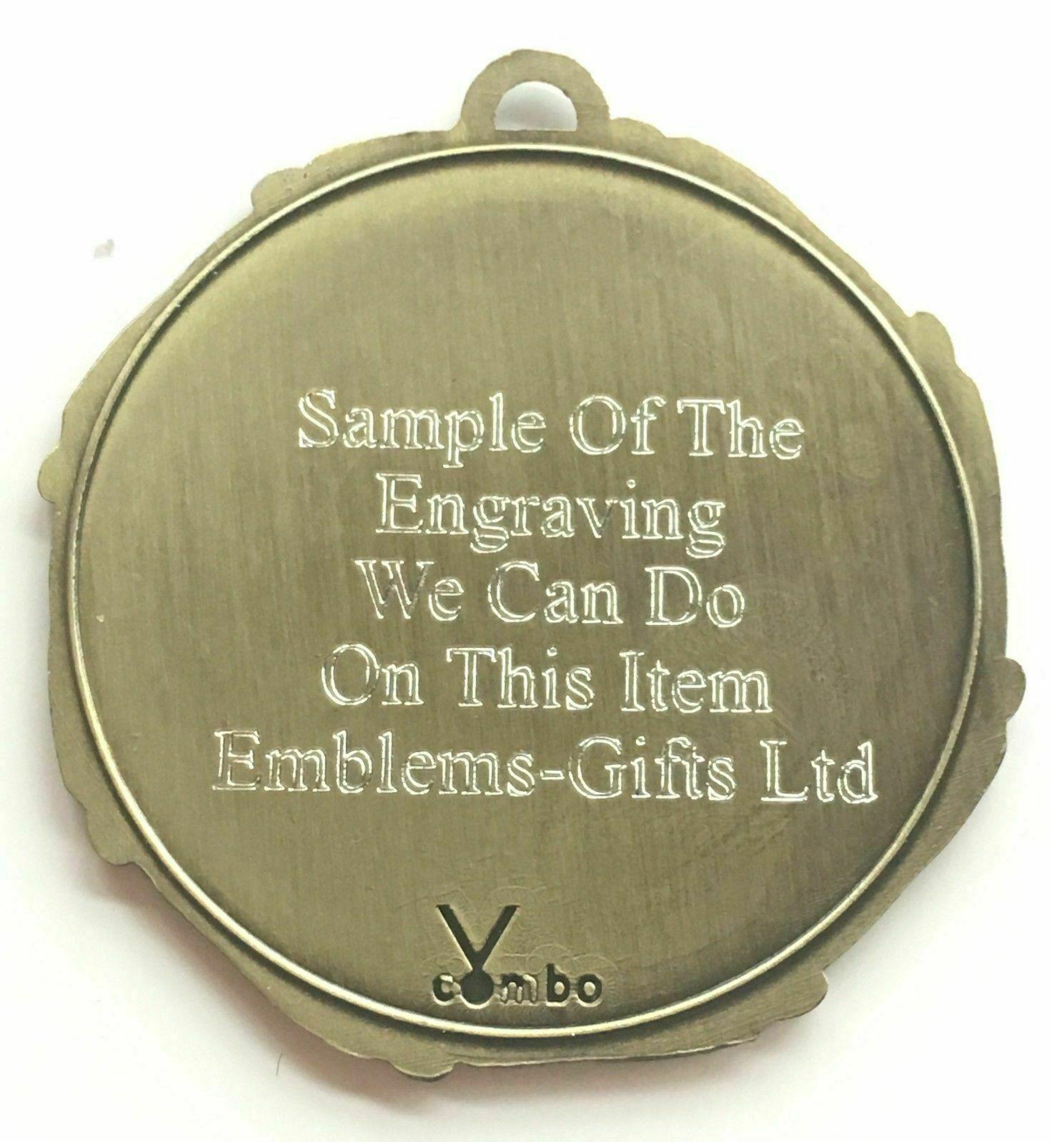 Confezione da 50 Personalizzato Ginnastica Donna Medaglie & & & Nastri Incisione 82e971