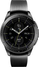 Samsung Galaxy Watch Smartwatch 42mm Midnight Black Stainless Steel Case Midnight Black Silicone Strap - (SM-R810NZKAXAR)
