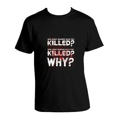 The Walking Dead GENIUS T shirt HOW MANY WALKERS HAVE YOU KILLED? Unisex T Shirt