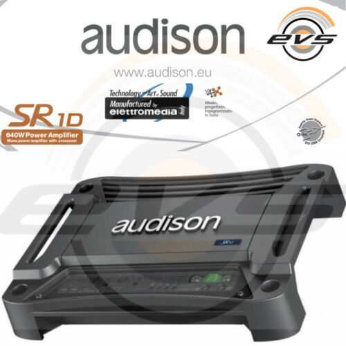 AUDISON SR1D SR 1D Amplificatore Mono per Subwoofer 640W RMS 1Ohm con Crossover