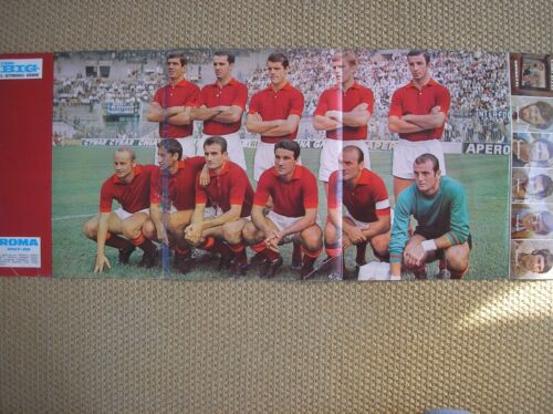 as ROMA FOOTBALL 196768 SQUARE POSTER CIAO BIG WEEKLY GIOVANE+MICHEL POLNAREFF