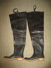 Hodgman Hip Waders Size 13 46 Brown Rubber Waterproof Boots Fishing Hunting