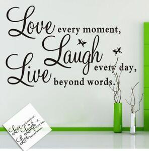 Love-Laugh-Live-Wandsticker-Wandtattoo-Sprueche-Zitat-Aufkleber-Wandaufkleber