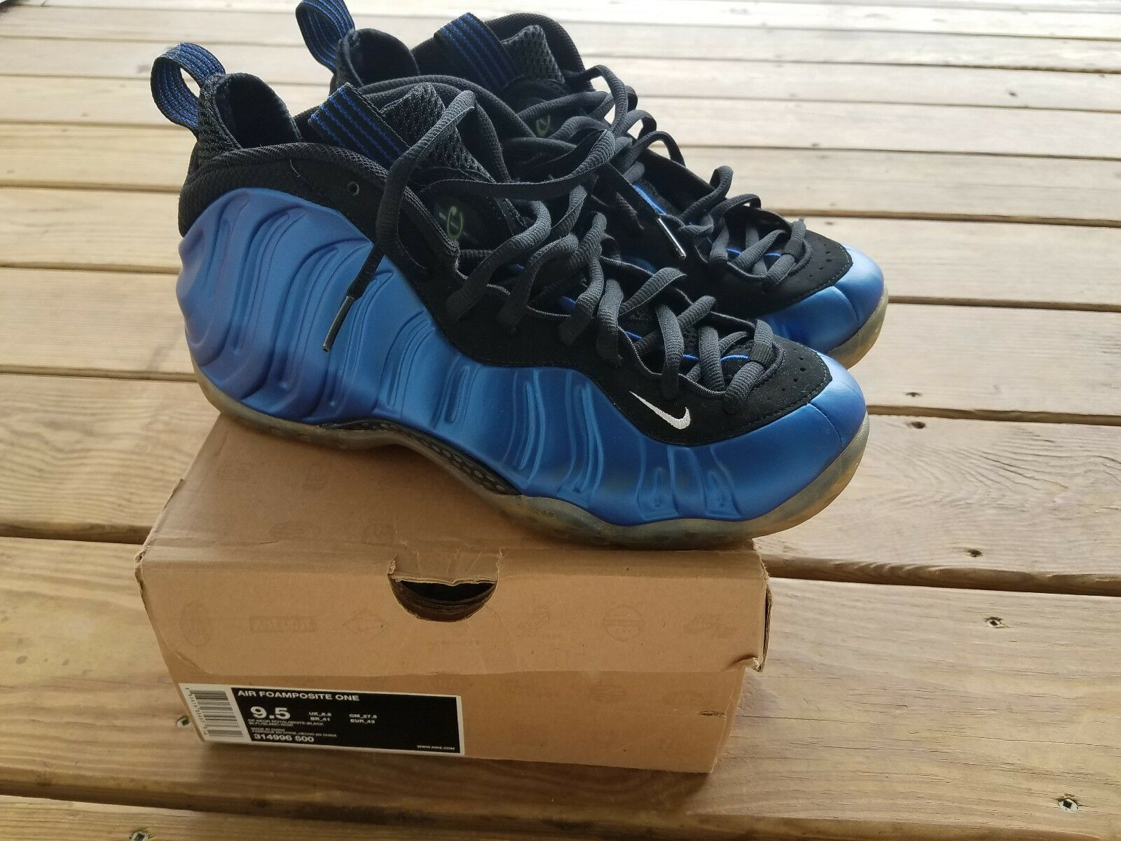Mens Nike Foamposite One Royal Sneaker Size 9.5