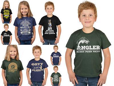 Angler Hochseeangeln Fischen Angelsport Kinder Shirt Kindershirt Angeln