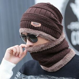 2cbb9543f07 Winter Tactical Knitted Hat Beanie Caps   Balaclava Snood Scarf For ...