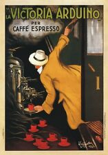"TARGA VINTAGE ""1922 LA VICTORIA ARDUINO"" CAFFE, PUBBLICITA, ADVERTISING, POSTER"
