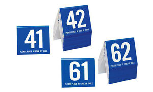 Image is loading Plastic-Table-Numbers-41-80-Tent-Style-Blue-  sc 1 st  eBay & Plastic Table Numbers 41-80 Tent Style Blue w/white number Free ...