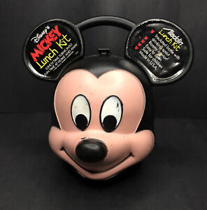 MICKEY MOUSE LUNCH KIT Made By Aladdin Industries INC.USA -Disney Co. NO THERMOS