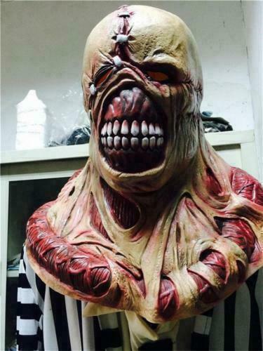 Resident Evil 3 Nemesis Deluxe Mask Fancy Zombie Cosplay Halloween Prop Replica