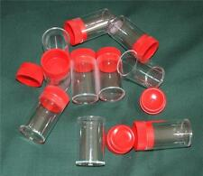 10 off 30ml Plastic Containers Bottles Laboratory Storage Arachnid Geocache Red