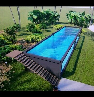 Above ground Custom Shipping Container Style Swimming Pool | eBay