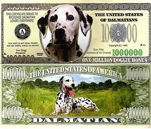 Dalmatian-Dog-Breed-Novelty-Bank-Note-Pup-101-Disney-Lovers-Million-Dollars-Cute