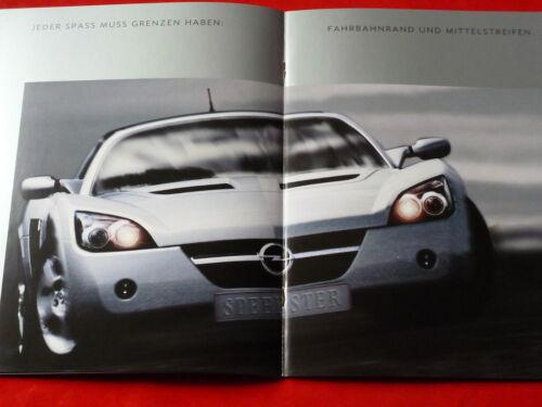 OPEL Speedster prospetto brochure di 2000