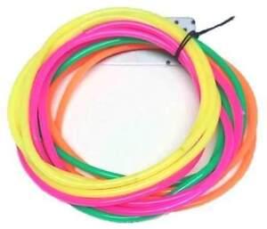 12-x-Neon-Gummy-Bangles-Bands-Jelly-Bracelets-80s-80-039-s-Fancy-Dress-Costume