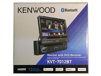 Kenwood Kvt-7012bt 6.95 Single Din Bluetooth In-dash Flip-out Dvd Car Stereo