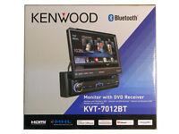 Kenwood Kvt-7012bt 6.95 Single Din Bluetooth In-dash Flip-out Dvd Car Stereo