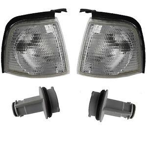 Blinker-weiss-SET-Audi-80-B3-B4-Links-Rechts-Blinkleuchte-mit-Fassung