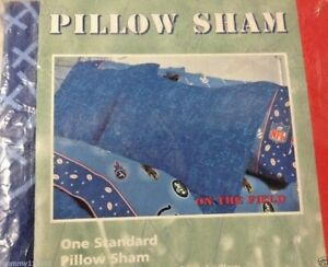 Nfl On The Field Standard Pillow Sham Blue Football Play
