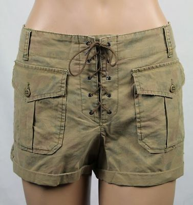 Ralph Lauren Denim & Supply Tan Front Laced Shorts NWT 32 $98