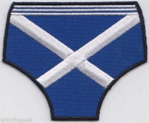 Blue Pants Scotland Scottish Embroidered Badge Patch