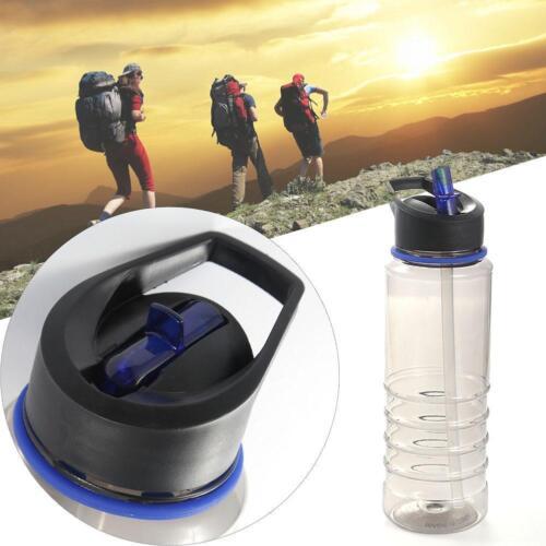 1x Flip Straw BPA Free Drinks Sport Hydration Water Bottle for Cycling Hiking WT
