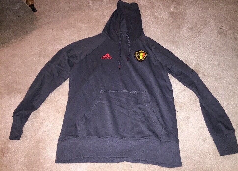 Adidas Belgium National Team 2016 Hoodie Sweatshirt, Size Large, Hazard, Lukaku