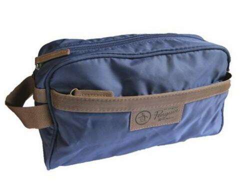 Penguin by Munsingwear Men/'s Travel Toiletry Shave Kit Charger Bag Navy NWT $50