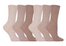 6 Paia Donna SockShop diabetici Gentle Grip Calzini 4-8Uk 37-42eur naturale Mix