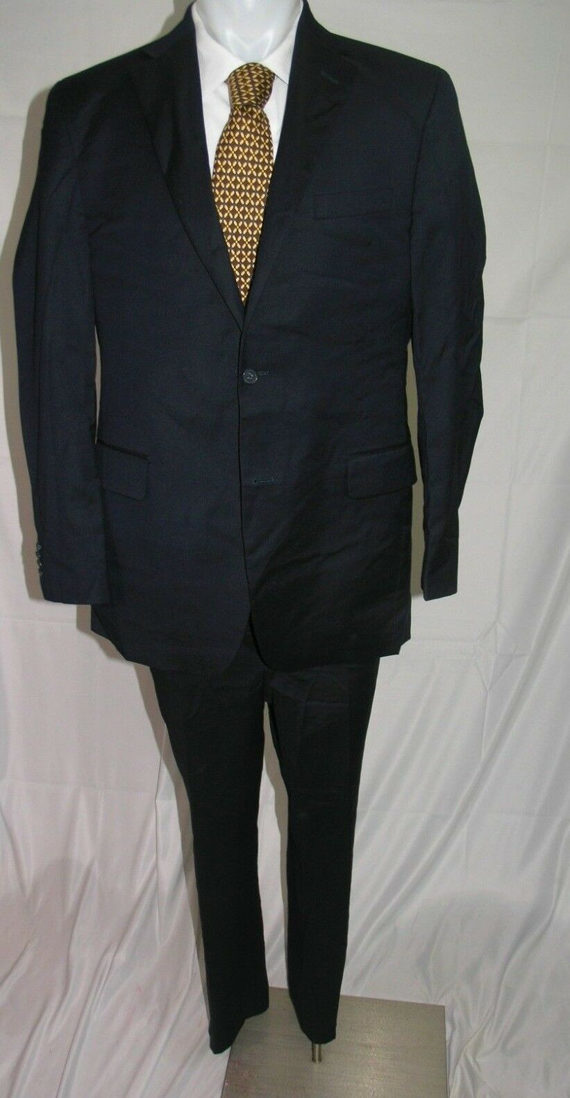 Barneys New York Lgold Piana Super 120's Two Button Flat Front Suit 42 L 36 x 30
