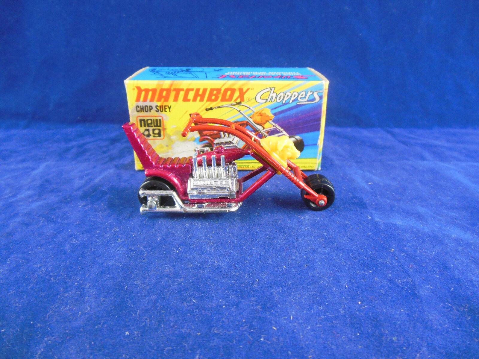Matchbox Superfast MB - 49 b ChopSeuy Chopper motorcycle in Metallic Magenta