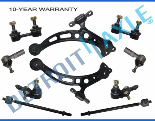 8pc Lower Control Arm Ball Joint Tie Rod Sway Bar Set for Toyota Camry ES300