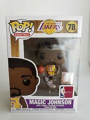 NBA LEGENDS EARVIN MAGIC JOHNSON LA LAKERS (HOME) JERSEY FUNKO POP IN STOCK | eBay