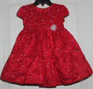 79362280f131 Image is loading Girls-Marmellata-Boutique-Sparkly-Red-Silver-Tiered-Holiday -
