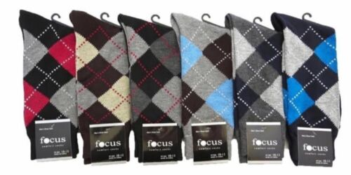 6-12 Pairs Lot Men/'s Design Dress Socks Pattern Assort Argyle Fashion 9-11 10-13