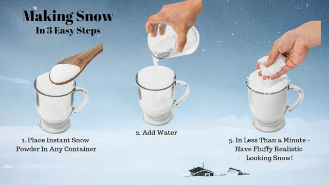 Makes 1.43 Gallons of Snow SnoWOW Magic Snow Powder Just Add Water