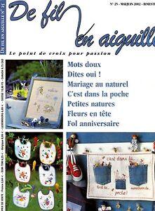 De Fil En Aiguille N 25 Point Croix Abecedaire Mariage Veronique Enginger Ebay