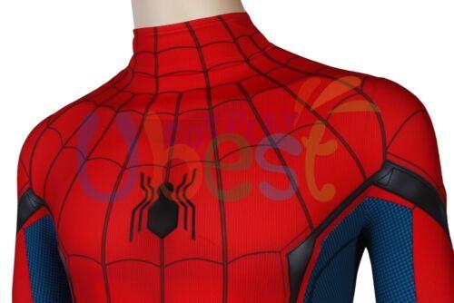 Marvel Civil War Spiderman Homecoming Costume Pour Enfants Adultes 3D Imprimé