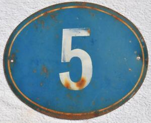 Details about 1930s USSR Soviet Russia House Building Door Number Sign # 5  Painted