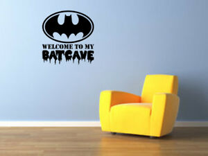 Image Is Loading Batman Logo Welcome To My Bat Cave Vinyl
