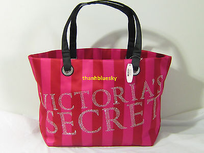 Bling VICTORIA SECRET Black Friday PINK TRAVEL BEACH WEEKENDER CARRY ON TOTE BAG