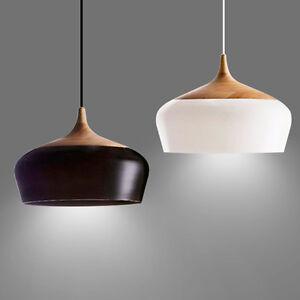 retro modern lighting. Image Is Loading Pendant-Ceiling-Light-Oak-Wood-Lampshade-Industrial-Retro- Retro Modern Lighting E