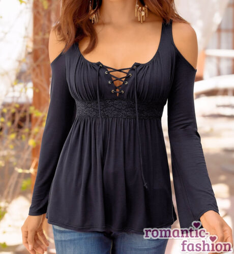 immédiatement ♥ shirt Neuf ♥ taille 34-46 élégant supérieur tunique noir//rouge//blanc top