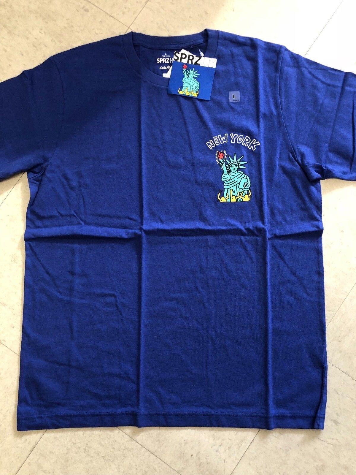 Keith Haring X UNIQLO SPRZ NY Graphic T-shirt bluee US size S-3XL MoMa New York