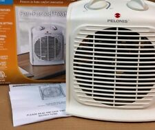 PORTABLE PELONIS FAN FORCED HEATER ELECTRIC OFFICE SPACE THERMOSTAT -SHIP FREE