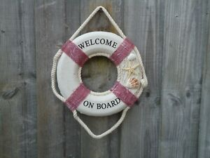 Ship-Lifebelt-Welcome-On-board-with-Shells-Boat-maritime-Life-Buoy-Ring-Belt-s